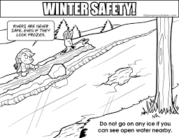 coloring winter safety