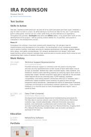 Recruiter Resume Example by Technical Support Representative Resume Samples Visualcv Resume