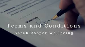Terms Conditions Cooper Wellbeing Terms And Conditions From Cooper