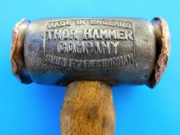vtg thor copper hammer british tool kit for knock 0ff wheels austin