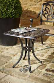 Metal Garden Table And Chairs Uk Hartman Amalfi Square Side Table Metal Garden Furniture Hayes