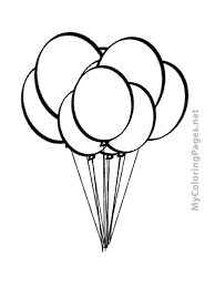 balloons free coloring book pages print color free