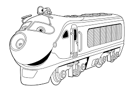 chuggington coloring pages for kids to color during the party to