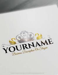 design a custom logo free online create a logo free swan crown logo design