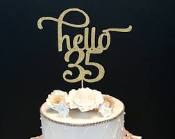hello cupcake toppers hello 40 cake topper etsy