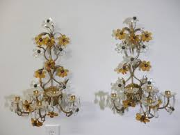 Crystal Candle Sconce Vintage Chandeliers U0026 Wall Sconces Collection On Ebay