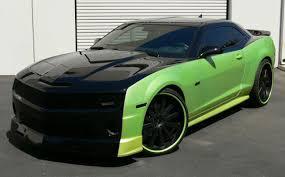 black on black camaro 2014 chevrolet camaro ss wgreen stripes black wgreen stripes