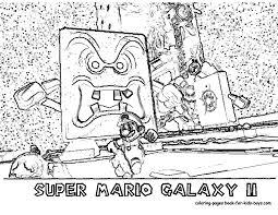 nengaku printables nintendi wii super mario galaxy coloring pages