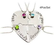 best friend pendant necklace images Necklace pendant chain best friends forever and ever heart puzzle jpg