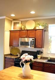 decorating ideas for kitchen cabinet tops top kitchen cabinet decor upandstunning club