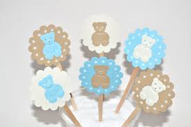 teddy bear baby shower invitations 12 teddy bear cupcake toppers teddy bear baby shower bear