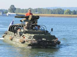 amphibious vehicle ww2 by land and by water amphibious vehicle lands in vancouver the