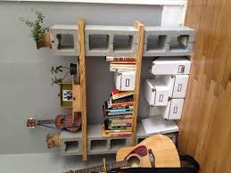 decorations cinder block bookshelf cinder block bar outdoor
