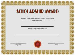 templates for scholarship awards scholarship certificate templates best 10 templates