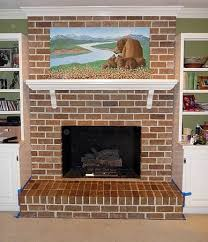 How To Resurface A Brick Fireplace by Painting Brick Fireplace From White To Beautiful Brownstone