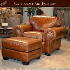 Leather Armchair With Ottoman Custom Leather Traditional Design Sofa Chair Set