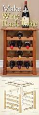 Diy Wood Desk Plans by Wine Rack Table Plans Furniture Plans And Projects