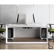 bureau 2 personnes bureau bench 2 personnes avec meubles de rangement mobel
