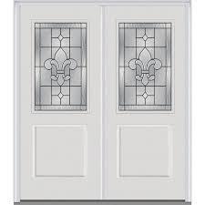 decorative glass for doors mmi door 74 in x 81 75 in carrollton decorative glass 1 2 lite