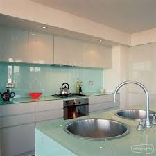 Shiny White Kitchen Cabinets French Blue Splashback High Gloss White Kitchen Cabinets No