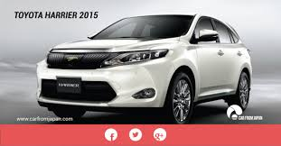 toyota dealer japan the toyota harrier 2015 review car from japan
