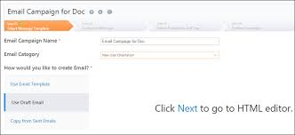 selecting an email message template leadsquared help and support
