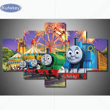 online buy wholesale train painting from china train painting diy diamond painting cross stitch kits full diamond embroidery cartoon 5d diamond mosaic needlework puzzle anime
