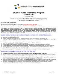 Nursing Internship Resume Cover Letter For Veterinary Externship