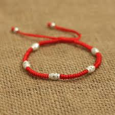 lucky red bracelet images 925 sterling silver lucky red rope handmade shamballa bracelet jpg