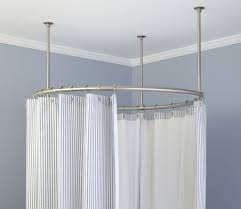 Corner Shower Curtain Corner Shower Curtain Rod Without Ceiling Support Shower