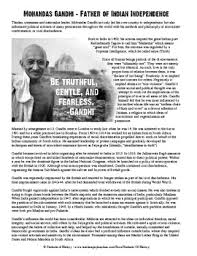 biography of mahatma gandhi summary mohandas gandhi biography and questions worksheet by students of history
