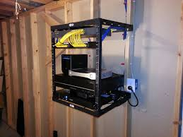 19 Inch Audio Rack Wall Mounted Rack System With Network And Audio Distribution