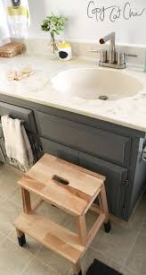 step stool for bathroom sink ikea bekvam stool hack copycatchic