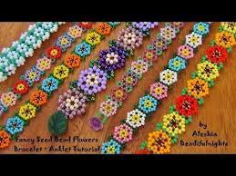 bead flower bracelet images Fancy seed bead flowers bracelet seed bead tutorials seed bead jpg
