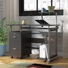 cabinet glass computer desk with printer shelf stunning computer