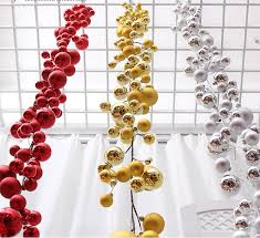 1 8meters gold silver suspension ornament garland