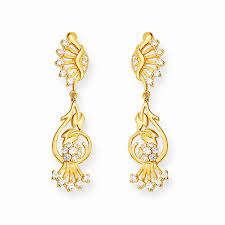 earrings in grt oriana gold stylus intertwined tulip drop earrings grt