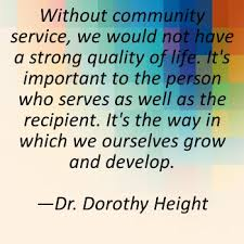 Community Service Quotes on Pinterest   Service Quotes     Community Service  Day    of My    Days of Pinterest Challenge   Volunteering for the