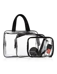 outstanding value 3 piece clear cosmetic bag set m u0026s