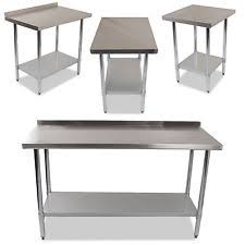Stainless Steel Kitchen Table EBay - Stainless steel kitchen tables