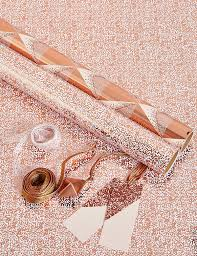 metallic copper gold wrapping paper counter roll 60cmx60m
