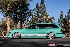 bmw wagon stance minty fresh e39 bmw slammed wagon superfly autos