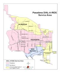 Parking Restrictions Los Angeles Map by Dial A Ride U2013 Pasadena Transit
