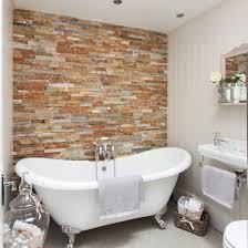 feature wall bathroom ideas a stylish bathroom with a brick feature wall fabulous bathrooms