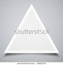 3d blank abstract white triangle box stock illustration 97786436