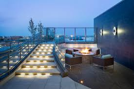 rooftop deck with fire pit lyric 440