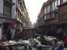 busy winter markets in lhasa picture of songtsan travel day tour