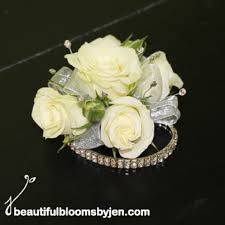 white corsages for prom corsages and boutonnieres beautiful blooms by jen