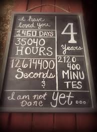 4 year wedding anniversary gift ideas for him 4 year anniversary chalkboard proud to say in january we ve been