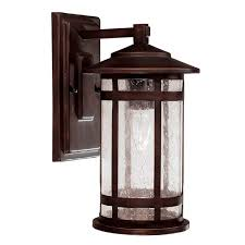Mission Style Wall Sconce Capital Lighting 9951bb Outdoor Wall Fixture With Seeded Glass
